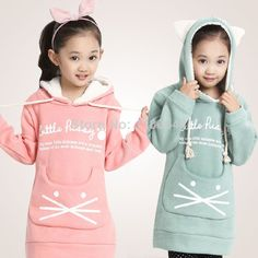 Sweats à Capuche et Sweatshirts on AliExpress.com from $19.19 Bedroom For Girls Kids, Custom Leather Jackets, Girl Sweat, Kids Outfits, Cute Outfits, Baby Dress Design, Kids Coats, Little Girl Dresses, Kind Mode