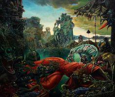 """Max Ernst, """"Die Versuchung des heiligen Antonius"""""""