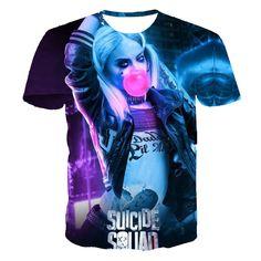 Suicide Squad's Harley Quinn Joker Daiblo and Katana 3D T-Shirts