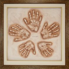 Family handprints are awesome