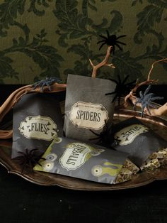 Martha Stewart Crafts Haunted Wax Treat Bags