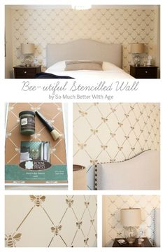French Bee Trellis Stencil Diy Wallpaper