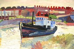 Boat at Falmouth Oil on Canvas 50 x 75 cms