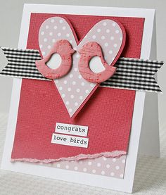 So cute and simple.  #wedding, #love, #cards