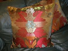 Throw Pillow Clarence House Silk Lampas Fabric Verlaine Floral Design Custom Two | eBay