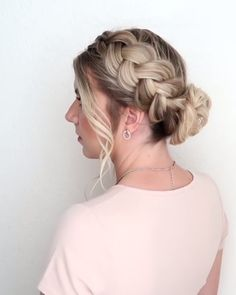 Easy Braided Updo Style Tutorial! #easyhairstyles Easy Braided Updo Style Tutorial! #easyhairstyles #hairtutorials #braidedhairstyles