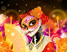 "Mexico's day of dead  ""Catrina Jarocha"" http://be.net/gallery/58025689/Catrina-Jarocha"