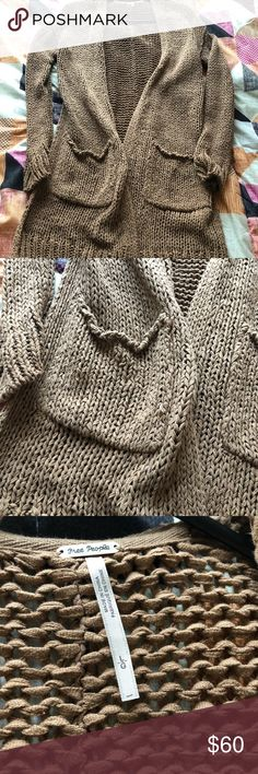 Free People Long Cardigan Have worn this sweater once, like new. Free People Sweaters Cardigans