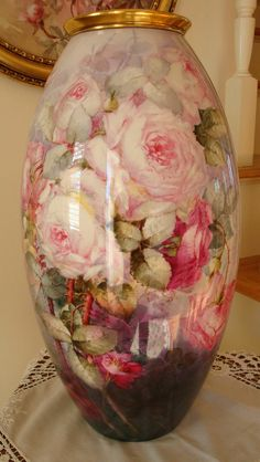Spectacular Hand Painted American Willets Belleek Vase ~Roses~Signed from theverybest on Ruby Lane