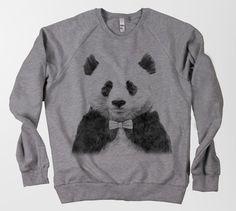 """Jamie Mitchell's """"Zhu"""" panda with bow tie sweater"""