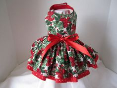 Christmas dog dress XS By Nina's Couture by NinasCoutureCloset, $25.00