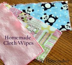 Shelly Homemaker: Homemade Cloth Wipes