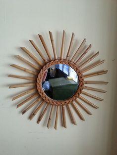 espejo sol de mimbre y bamb la tienda de etxekodeco