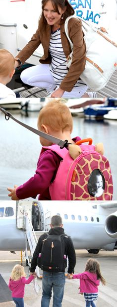 For family adventures: PacaPod Mirano weekend bag; toddler pod with reins and Picos rucksack.