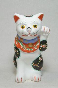 仙台堤人形招き猫(白・左手)