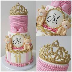 Princess Birthday Cakes: Ideas for Your Party - Novelty Birthday Cakes Baby Cakes, Baby Shower Cakes, Baby Birthday Cakes, Novelty Birthday Cakes, Pink Cakes, Torta Princess, Princess Theme Cake, Camo Wedding Cakes, Teddy Bear Cakes