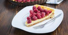 Recette de Tarte aux framboises et à la crème vanillée minceur sans cuisson. Facile et rapide à réaliser, goûteuse et diététique.