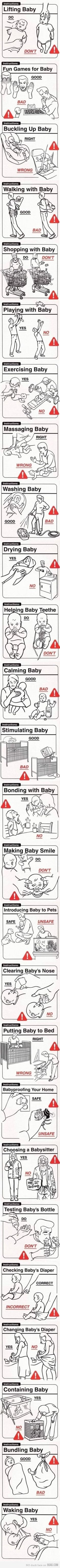 baby do's and dont's. just in case I forget how this whole mommy thing goes