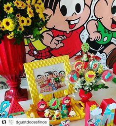 #Repost @dgustdocesfinos Doces @dgustdocesfinos Decoração @cenariosdecoracoes  #turmadamonica #festaturmadamonica Toy Story, Minnie Mouse, Snoopy, Toys, Creative, Party, Instagram, Toddler Boy Birthday, Summer Birthday