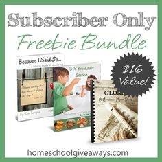 Subscriber Only Freebie Bundle through Friday September 26, 2014 (that's today!)  Breakfast help, a hymn study, and a Biblical study on obedience  Don't miss this opportunity to get them free!