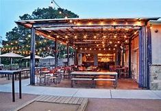 austin patio restaurant contigo - Bing images Apartment Design, Apartment Therapy, Coffee Shops Austin, Coffee Gifts, Rustic Design, Rustic Kitchen, Restaurant Design, Brewery, Terrace
