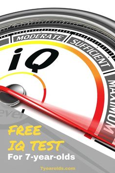 Ever wondered what your IQ was? We have provided you a free IQ test to find out now! Test For Kids, Hard Words, English Grammar Worksheets, Seven Years Old, Life Is Hard, 7 Year Olds, Child Development, Reading Comprehension, Little Boys