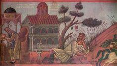 """ΦΩΤΗΣ ΚΟΝΤΟΓΛΟΥ: """"""""Βασίλειος ο Μακεδών κοιμώμενος""""  """"Επιγραφή διά τήν αίθουσαν τού Δημαρχείου τήν οποίαν εζωγράφισα. Η παρούσα ζωγραφία εφιλοτεχνήθη όπως εν σχήμασι γραπτοίς διαμένη πρό τών ομμάτων εις αιώνα ο κύκλος τής ελληνικής φυλής, από τών πρώτων αυτής προπατόρων μέχρι τών καθ' ημάς…Εζωγραφήθη δέ μετά πόθου καί φιλοτιμίας πολλής φαντασία καί χειρί Φωτίου Κόντογλου τού εκ Κυδωνιών τής Μικράς Ασίας"""" Blog, Painting, Visual Arts, Greek, Painting Art, Blogging, Paintings, Painted Canvas, Greece"""