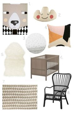 """A Modern Nordic Nursery on a Budget"" , featuring the TEJN faux sheepskin, SUNDVIK crib and STORSELE chair, @ApartmentTherapy.com"