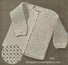 Crochet Sweater Pattern - Child's 'Bobby' Cardigan