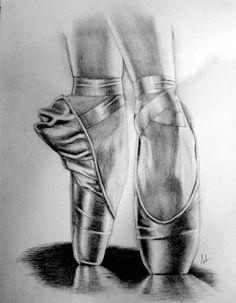 pointe shoe drawings - Google Search