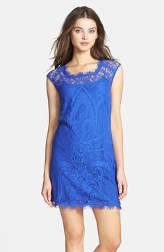 Nicole Miller Lace Shift Dress available at #Nordstrom