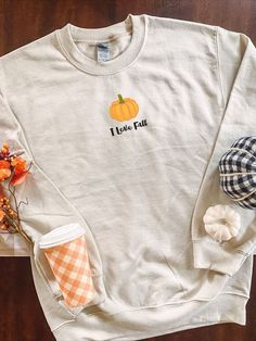 A great sweater to welcome fall with. If you love the fall you will feel super cozy in this super cute pumpkin sweatshirt.