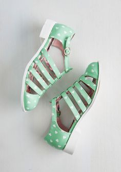 State-mint of Love Sandal. Don't hold back - declare your feelings for these adorable T-strap sandals by putting them on! #mint #modcloth