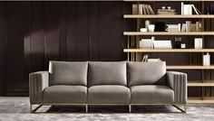 High End Luxury Leather Contemporary Designer Sofa - Juliettes Interiors Luxury Italian Furniture, Modern Sofa Designs, Living Room Sofa Design, Sofa Home, Luxury Sofa, Ikea Hacks, Sofa Furniture, Contemporary Interior, Sofa Set