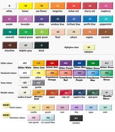 Fimo colour chart 2012 Useful to know what colours i could use for my next fimo creation/fail!