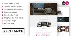Revelance - OnePage PSD Theme by Duelmotion   Overview Revelance is a one-page PSD theme suitable for any type of business. 6 very well organized PSD files are included in t