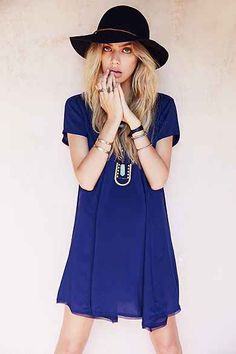 Love Sadie Crochet-Trim Trapeze Dress - Urban Outfitters