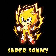 Super Sonic T-Shirt Sonic the Hedgehog TeeTurtle