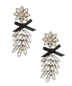 Crystal flower earrings - $65.00 at betseyjohnson.com