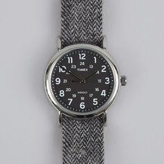 Weekender Watch - Black/White Tweed