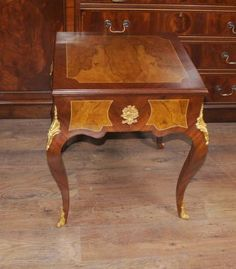 French Empire Side Games Table Backgammon Chess Cocktail Tables