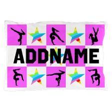 GYMNAST STAR Pillow Case http://www.cafepress.com/sportsstar/10114301  #Gymnastics #Gymnast #IloveGymnastics #Gymnastgifts #WomensGymnastics #Personalizedgymnast #Gymnastinspiration