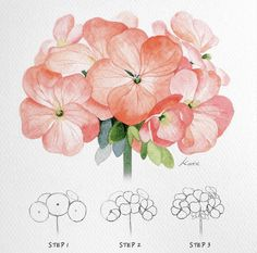 Watercolor And Sharpie, Sharpie Art, Easy Watercolor, Watercolor Flowers, Watercolor Water, Watercolor Painting, Realistic Drawings, Easy Drawings, Easy Sketches