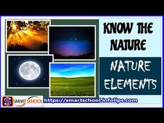 Elements of nature for kids | Know the nature and learn its elements by ...