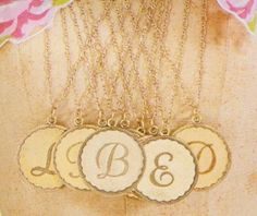"""""""L"""" medallion to replace the one I lost from Anthropologie."""