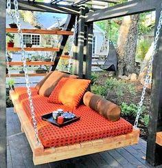 Cool diy furniture ideas amazing pallet furniture ideas 4 cool outdoor furniture made of pallet diy . Furniture Making, Diy Furniture, Outdoor Furniture, Pallet Exterior, Decoration Palette, Wooden Pallet Furniture, Patio Interior, Swinging Chair, Diy Pergola