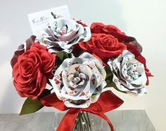 Poker Card Boutonniere Playing card corsage by ThePaintedPetaler