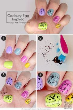 6. #Speckled Eggs - These Nail Art #Patterns Will Make Your Easter #Holiday…