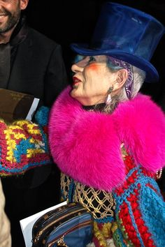 Anna Piaggi (22 March 1931 – 7 August 2012).  The queen of glamourous eccentricity
