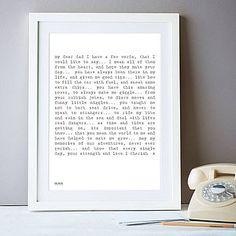 'My Dad' Poem Art Print